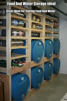 Here in the photo is a great ideal for storing food and water. If your prepping this would be a great ideal.