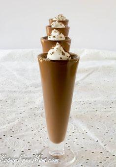Sugar Free Chocolate Espresso Mousse   http://sugarfreemom.com