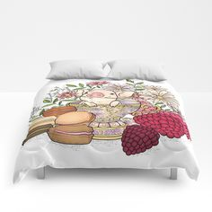 sweet pig Comforters by MIKART | Society6