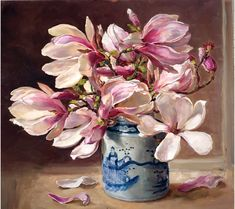 Magnolia Flower painting by Anne Cotterill