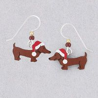 Handcrafted Holiday Dachshund Earrings, naturesjewelry.com