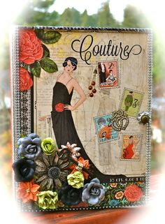Karen Zueger's Couture Altered Configuration Book - front #graphic45