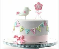 Inspiration Image of Bird Birthday Cake - birthday cake images - Bird Cakes, Cupcake Cakes, Girl Cupcakes, 1st Birthday Cake For Girls, Cake Birthday, 31 Birthday, Baby First Birthday, Princess Birthday, Birthday Ideas