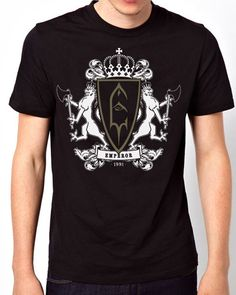 Emperor Hevy Metal Black Metal Band Logo Men Short Sleeve T-Shirt