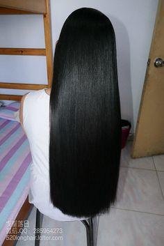 Just two inches trim. She was happy Long Straight Black Hair, Long Dark Hair, Medium Long Hair, Very Long Hair, Beautiful Long Hair, Gorgeous Hair, Long Indian Hair, Long Hair Models, Baddie Hairstyles