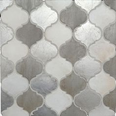Bed & Bath: Amazing Indoor Tile Pattern In Gray By Arabesque Tile For Home Interior Design For Bath And Kitchen Cocina Shabby Chic, Shabby Chic Kitchen, Backsplash Arabesque, Kitchen Backsplash, Backsplash Ideas, Home Renovation, Home Remodeling, Small American Kitchens, House Tiles