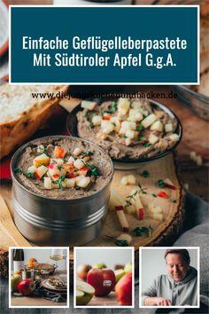 Wir hoffen, ihr probiert diese köstliche Geflügelleberpastete unbedingt aus. Es braucht keine aufwändige Zubereitung und ist in 30 Minuten fertig – aber am Besten ist die perfekte Möglichkeit der Vorbereitung. Einfach am Vortag kochen und die Vorspeise mit Südtiroler Apfel g.g.A. ist fix und fertig! #südtirol #QualitaetEuropa #EnjoyItsFromEurope #apfel Foodblogger, Spring Recipes, Apple