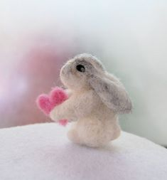 Gift Ideas For Girls. Toys For Girls. Needle Felted Animals, Felt Animals, Needle Felting, Cute Baby Bunnies, Felt Bunny, Bunny Nursery, Nursery Decor, Rabbit Toys, Hilarious Animals