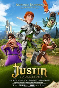 Justin y la espada del valor. Los grandes héroes no son siempre tan grandes. Producida por Antonio Banderas