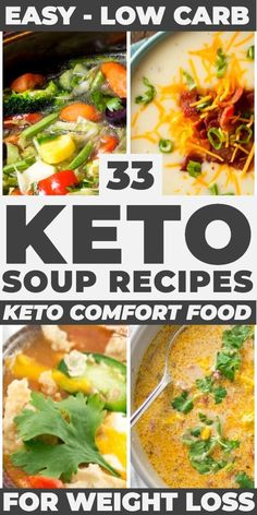 If you're on a low carb, ketogenic diet for weight loss, check out these keto soup recipes: low carb Low Carb Soup Recipes, Keto Crockpot Recipes, Diet Recipes, Healthy Recipes, Protein Recipes, Salmon Recipes, Recipes Dinner, Cooker Recipes, Dessert Recipes