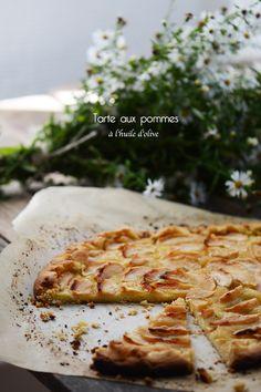 ilovequeencharlotte: Tarte aux pommes à l'huile d'olive citronée / Tarta de manzanas con aceite de oliva