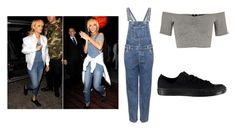 """""""Rihanna look for less"""" by emilyam ❤ liked on Polyvore featuring River Island, Topshop and Converse"""