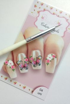 New nails verano pies ideas Nails Only, My Nails, Nail Art Modele, Flower Nails, Trendy Nails, Pedicure, Acrylic Nails, Projects To Try, Nail Designs