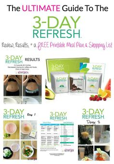 The ultimate guide to success with weight loss on the 3 Day Refresh. Full review, results plus a free meal plan and shopping list.   thebewitchinkitchen.com