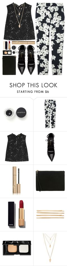 """#835 Julie"" by blueberrylexie ❤ liked on Polyvore featuring Smashbox, Erdem, Yves Saint Laurent, Stila, Whistles, Chanel, Cara, NARS Cosmetics and Forever 21"