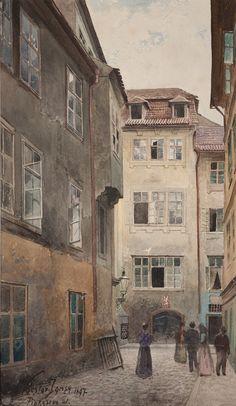 Václav Jansa, Pinkasova ulice, 1897, zdroj: Muzeum hlavního města Prahy