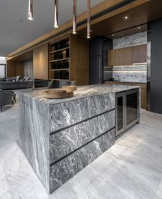 Kitchen Countertop Bachelor Loft Equipped for Modern and Sophisticated Lifestyle - InteriorZine - Breathtaking views from the floor of luxurious central Bangkok, Thailand building require nothing less than exquisite interior design arrangement. Luxury Kitchen Design, Best Kitchen Designs, Best Interior Design, Luxury Kitchens, Interior Design Kitchen, Cool Kitchens, Interior Designing, Cocinas Kitchen, Home Decor Online