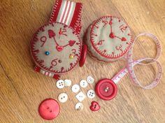 Wrist watch pin cushion and tape measure kit — Dandelion Designs