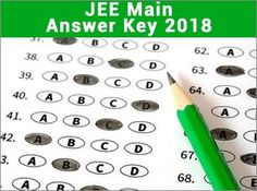 JEE Main Answer key 2018 will be declared on 8 April 2018. Candidates can download  Set wise answer key.