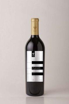#Etiqueta #Vino #Piano #Botella #Wine #Label #Bottle