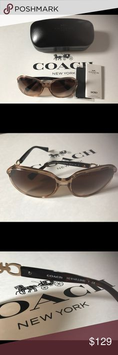 fcc866c232d NWT COACH KISSING C s SUNGLASSES L948 BROWN NWT COACH KISSING C s SUNGLASSES  L948 BROWN Details 100% UV protection Gradient lenses Packaged in a  protective ...