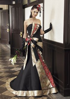 Takeda's Asymmetrical Kimono Dress | 10 Wedding Dresses Made from Japanese Kimonos