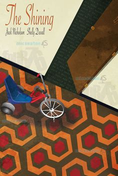 The Shining Movie Poster--cool for my non-existent basement movie room!