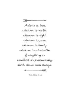 Bible Verse Print Phillipians 4:8 Bible by MelindaWoodDesigns