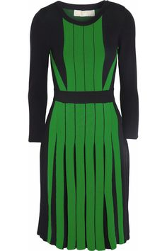 MICHAEL Michael Kors | Pleated stretch-knit dress | NET-A-PORTER.COM