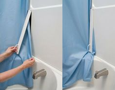 This Clever Product Holds Shower Curtains Securely In Place Curtain Clips Cool