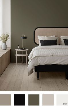 5 Beautiful and Totally Workable Color Palettes for Your Bedroom. 5 Beautiful and Totally Workable Color Palettes for Your Bedroom. good starting point for your future bedroom makeover! Bedroom Paint Colors, Bedroom Color Schemes, Bedroom Color Palettes, Neutral Color Palettes, Colors For Bedrooms, Painting Bedrooms, Calming Bedroom Colors, Best Bedroom Colors, Bathroom Colors