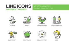 Big Bundle of 480 Line Design Icons by Decorwith.me Shop on @creativemarket