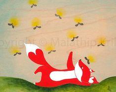 Fox Journey 3 You light up my day- art print