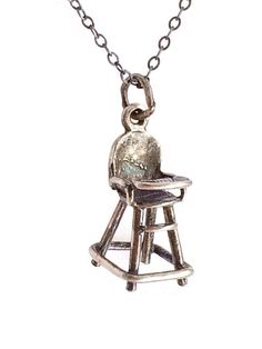 """Vintage 18"""" Sterling Necklace, Signed High Chair Pendant by Rubyapplevintage on Etsy https://www.etsy.com/listing/221365372/vintage-18-sterling-necklace-signed-high"""