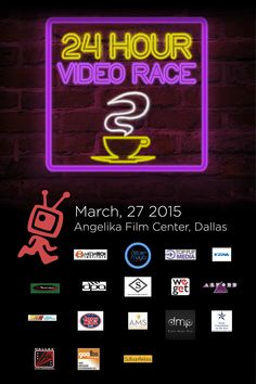 14th Annual 24-Hour Video Race  Kicks Off March 28, 2015 Angelika Film Center at Mockingbird Station in Dallas     The 14th Annual 24-Hour Video Race, presented by The Video Association of Dallas, will commence at the Angelika Film Center, 5321 E. Mockingbird Land in Mockingbird Station, Dallas, at 11:59 pm Friday, March 27 with the race taking place all of Saturday March 28.  http://www.24hourvideorace.com/