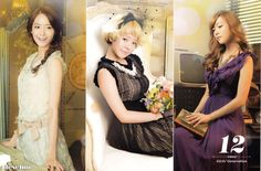 Yoona , Sunny and Jessica official desk calendar 2013 ! ♥