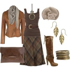 Classic Browns, created by cynthia335.polyvore.com