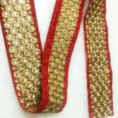 Listing is for 1 yard *** Size ***Refer pictures to know the size in INCHES Sari/Saree Border Trim Red Saree, Sari, Motif Paisley, Saree Border, Sewing Accessories, Lace Design, Indian Sarees, Scarf Styles, Wardrobes