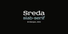Sreda. These guys seem to love giving away gorgeous fonts.