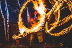 Long Exposure Photography in Estes Park Colorado. Firespinning is crazy fun and a little dangerous.   5DMKIII  16-35L  2 seconds  OCF