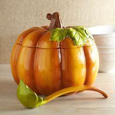 Pumpkin Tureen with Ladle