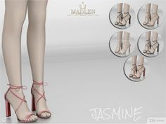 The Sims Resource: Madlen Jasmine Shoes by MJ95 • Sims 4 Downloads