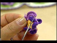 Santa Receita | Flor Carinhosa de Crochê por Maria José Alves - 06 de Maio de 2014 - YouTube