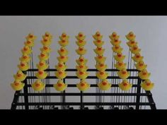 Duck Machine - mechanical sculpture by Dave Cranmer (Full article here:http://www.wired.com/design/2013/10/49-rubber-duckies-moving-in-perfect-harmony/?cid=co13879924)