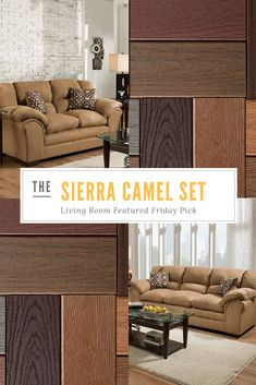 The Sierra Camel Is A Comfy Couch Set