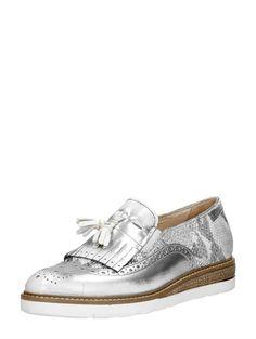 MJUS zilveren loafers met jamboreeklep