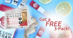Squeeze Dried is giving away free 3-packs of it's cold-busting, healthy Apple Cider Vinegar formula! Imagine a powerful ACV cleanse in a tiny pouch, infused with Probiotics, Fruits & Vegetables, plus no radical diets -- I'm already loving this idea! And it tastes AMAZING! I'm tossing the bulky-bottled juice cleanses... And getting a FREE 3-Pack! Try it out with me!