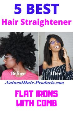 Are you SURE that a flat iron with a built in comb for natural hair is your best option? If you think that a flat iron with teeth is the answer to straightening out your thick, natural hair until it's sleek and straight without heat damage. Natural Hair Care Tips, Natural Hair Tips, Natural Hair Journey, Natural Hair Styles, Hair Straightener Reviews, Curly Hair Braids, Type 4 Hair, Natural Braids, Protective Hairstyles