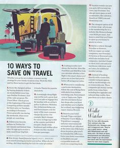 10 Ways to save on travel