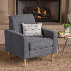 online shopping for Christopher Knight Home 302534 Sawyer Arm Chair, Light Grey Tweed + Natural from top store. See new offer for Christopher Knight Home 302534 Sawyer Arm Chair, Light Grey Tweed + Natural Furniture Sofa Set, Meridian Furniture, Luxury Home Furniture, Furniture Ideas, Wood Arm Chair, Grey Chair, Living Room Chairs, Living Room Furniture, Comfy Reading Chair